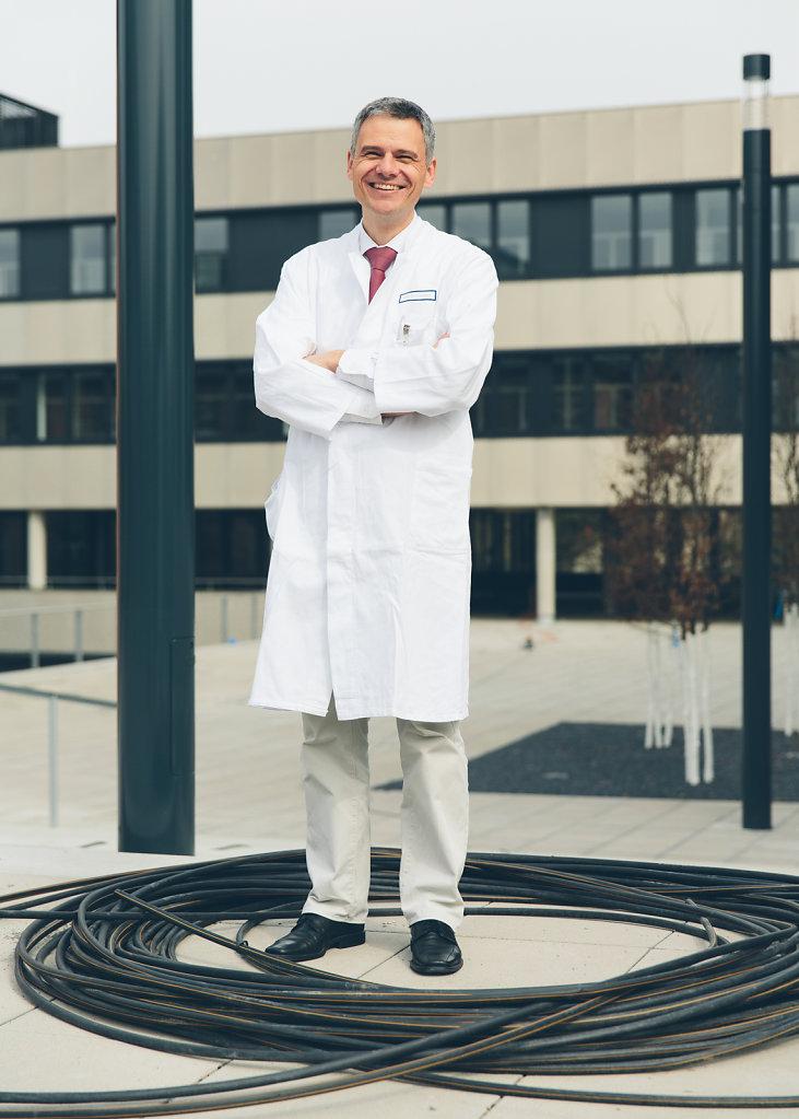 Dr. Jürgen Siebler, Gastroenterologist, Uniklinikum Erlangen. For Siemens.