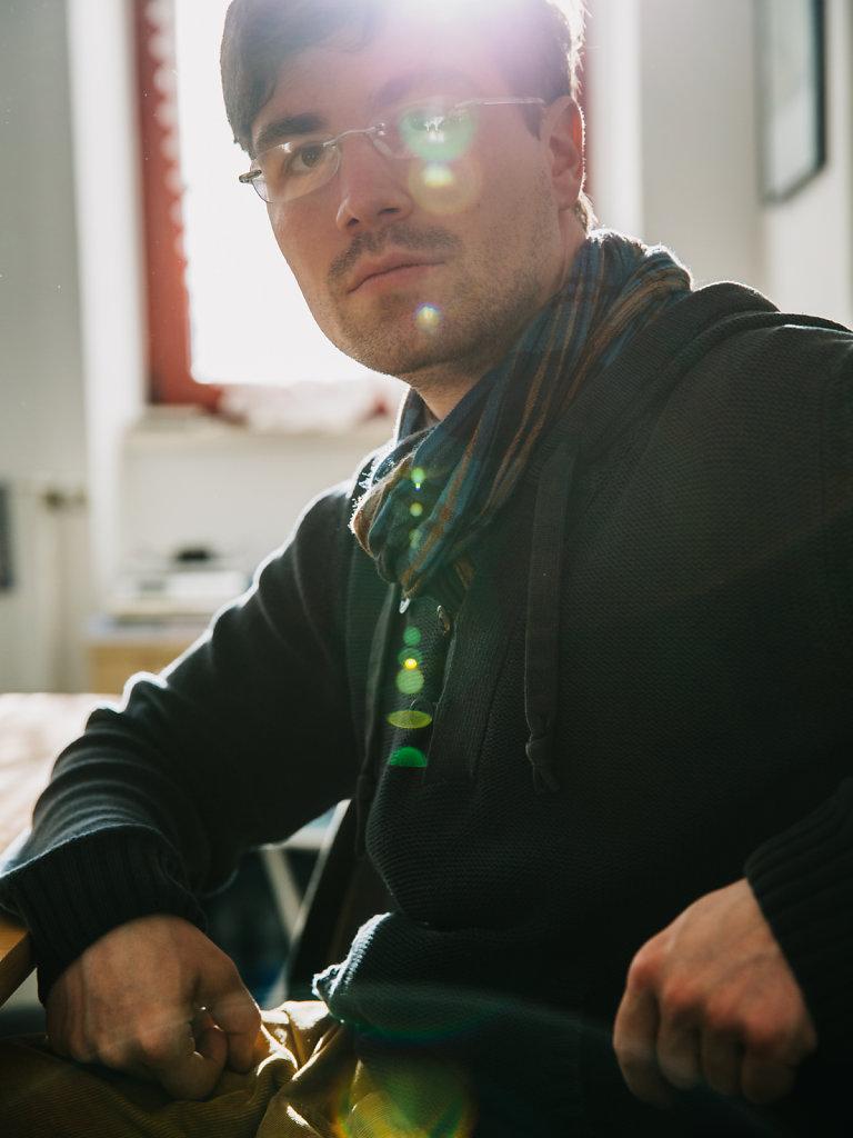 """Felix Menzel, editor-in-chief """"Blaue Narzisse"""". For DER SPIEGEL."""