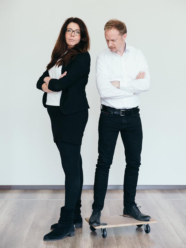 Andrea Horezky, architect, Gabriel Bensch, designer.