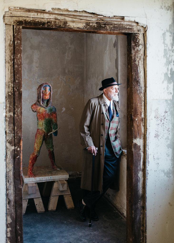 Markus Lüpertz, artist. For DER SPIEGEL.